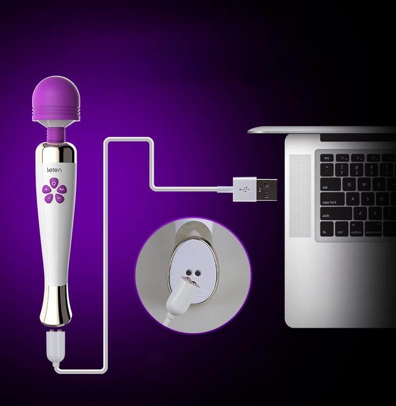 давай с USB волшебная палочка вибратор для женщин массажер вибратор для взрослых секс игрушки для женщин стимулятор бросить