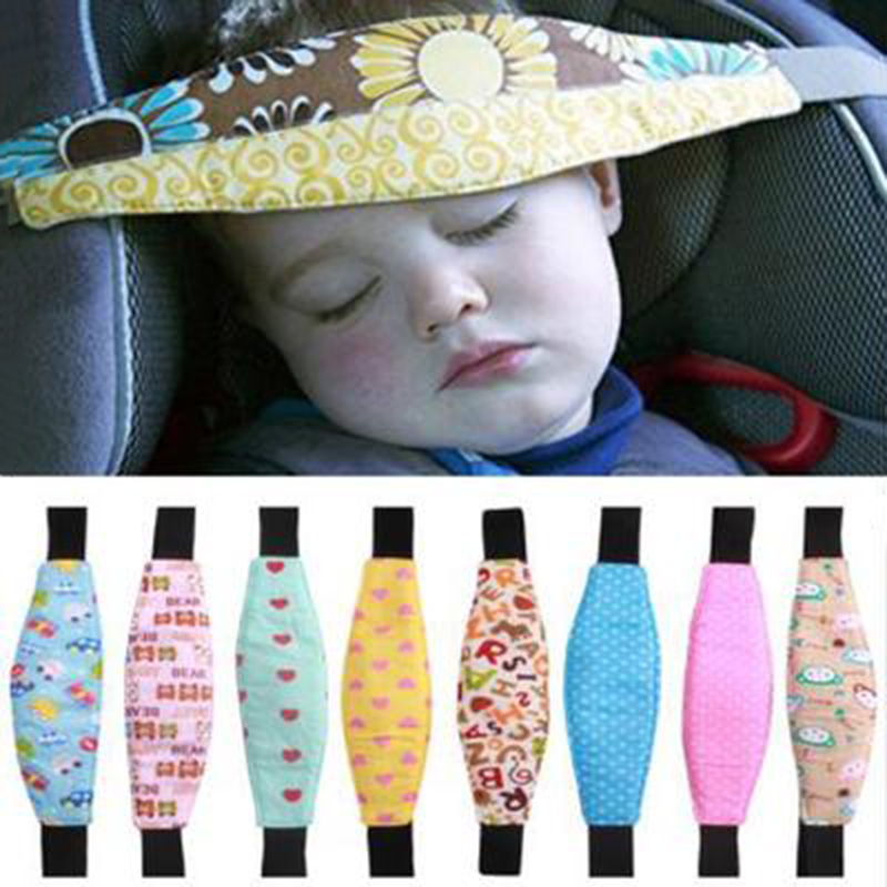 Baby Car Safety Seat Sleep Positioner Infants And Toddler Head Support Pram Stroller Accessories Kids Adjustable Fastening Belts(China)