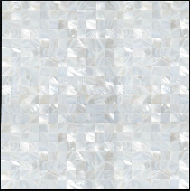 Natural Travertine Mosaic Tile L 300mm W 300mm: Natural Pearl Shell Mosaic Tile, Bathroom Wall Tile