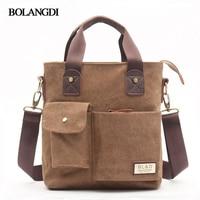 Business Canvas Handbags Fashion Men S Briefcase Vintage Single Shoulder Bags High Quality Shoulder Bags Handbags