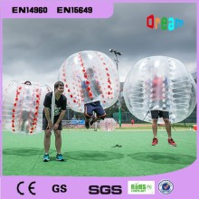 Free shipping 1.5m Outdoor team games inflatable bumper soccer ball/soccer bubble ball /inflatable zorb ball
