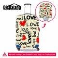 Dispalang melhor acessórios de viagem para as mulheres agradável cópia do coração tampa da mala para meninas padrões bagagem bagagem protetores covers