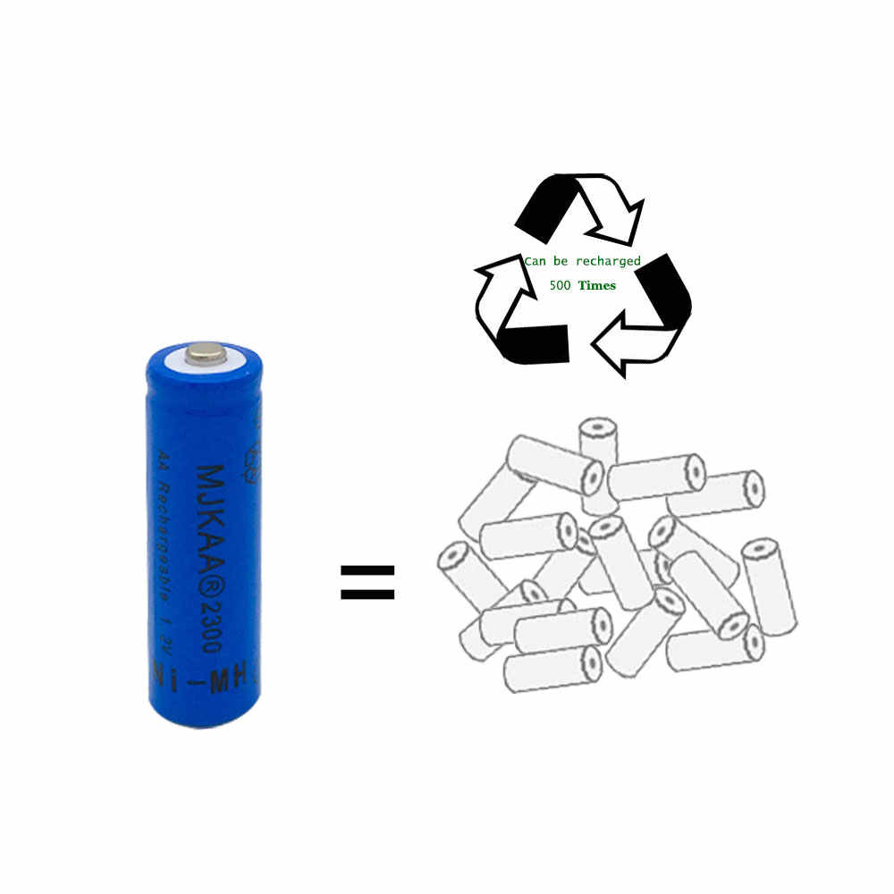 1pc a lot Ni-MH 2300mAh AA Batteries 1.2V AA  Rechargeable Battery NI-MH battery for camera,toys