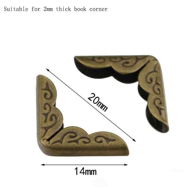 10 pçs bronze 14mm livro canto caderno livro livro livro livro álbum canto protetor