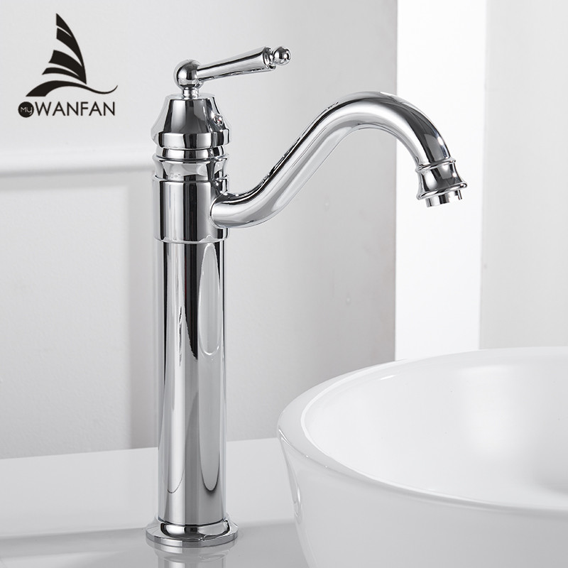 Basin Faucets Gold Plated Deck Mounted Bathroom Faucets