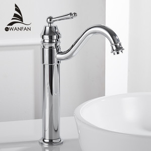 Image 2 - Basin Faucets Gold Plated Deck Mounted Bathroom Faucets Brass Bathroom Taps Mixer Crane Torneira Single Handle Faucet 6633