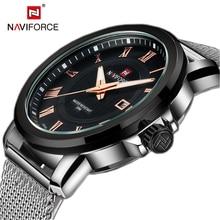 NAVIFORCE Top Luxe Merk Vrouwen Horloge Back Light Handen Business Fashion Casual Dames Quartz Horloges Waterdicht Montre Femme