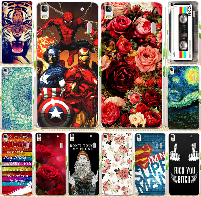 25 Styles Cute Cartoon Painted Case For Lenovo K3 Note A7000 Mobile Phone