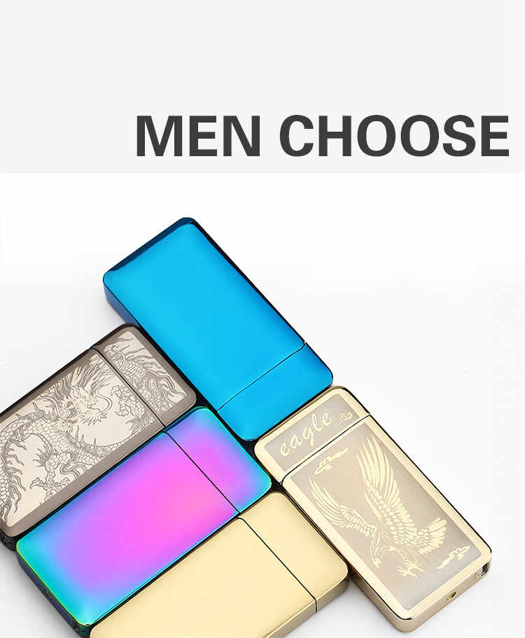 New Double Pulsed Arc Creative Lighter Plasma Usb Charging Electric Lighters For Cigarette Weed