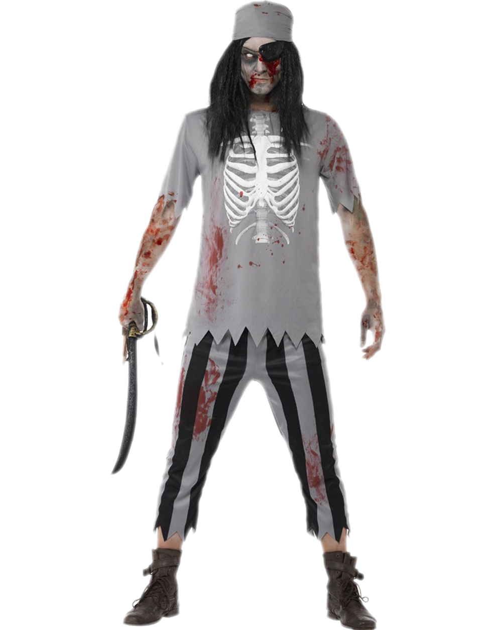 free shipping men cosplay pirate costumes halloween zombie