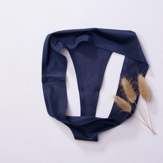 3pcs,ice silk thong panties sexy b