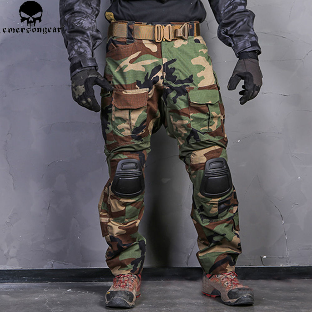 EMERSONGEAR Combat Pants Hunting Pants Emerson G3 Tactical Airsoft Combat Trousers Military BDU Airsoft Uniform Woodland emersongear g3 combat pants with knee pads military bdu army airsoft emerson gear paintball hunting trousers em7046 mandrake