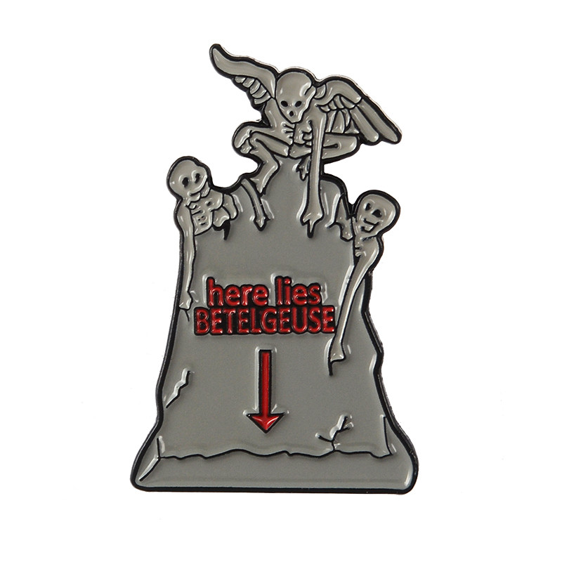 Enamel Pin Collection Punk Dark Horror TV show Brooches Badges Bag Clothes Accessories Gothic Halloween Lapel Pins Jewelry Gift 5