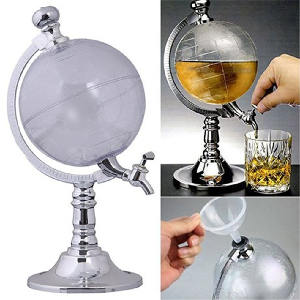 Unique Design Mini Globe Shape Home Night Club Beverage Liquor Dispenser Beer Liquid Drinking Dispenser Novelty Gag Toys