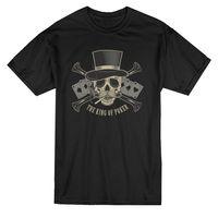 King Of Poker Top Hat Skull Tee-Obrazu przez Shutterstock
