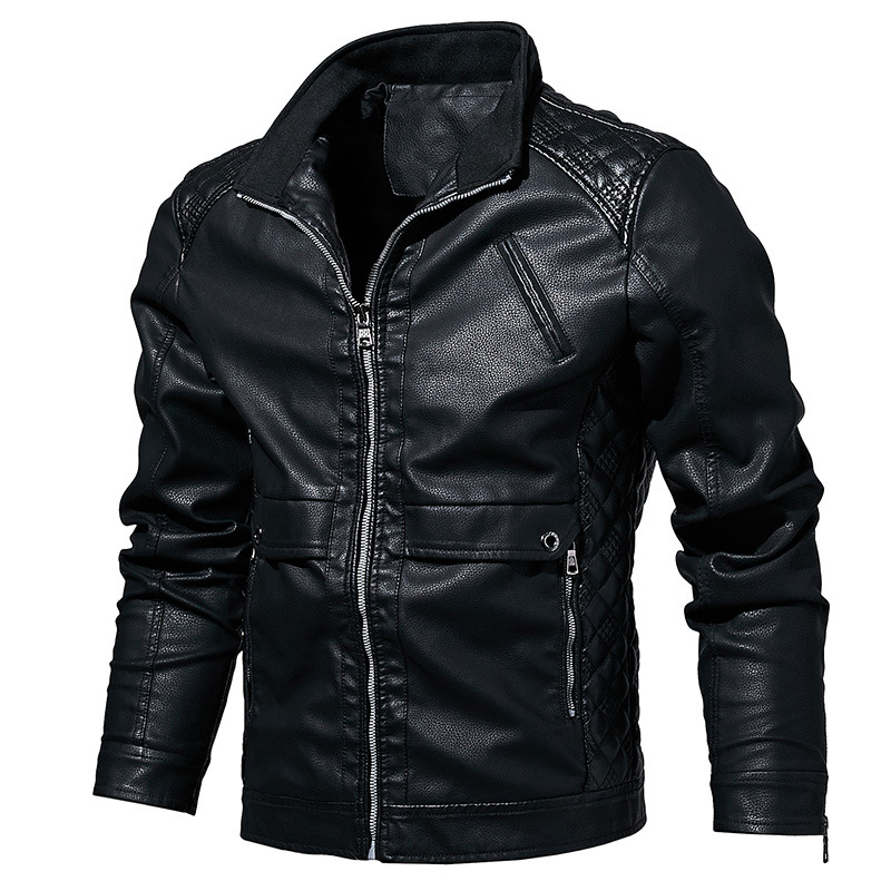Men Leather Jacket Spring Autumn Biker Motorcycle PU Jacket Men Plus Size 5XL 6XL Faux Fur Coat Men Jaqueta De Couro Masculina