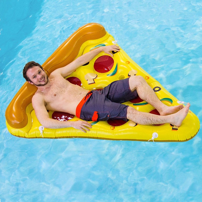 Inflatable Yellow Pizza Pool Toys Float  Inflatable Swimming Rings for Pool Party Favor Summer Holiday Water Air Mattress toys (3)