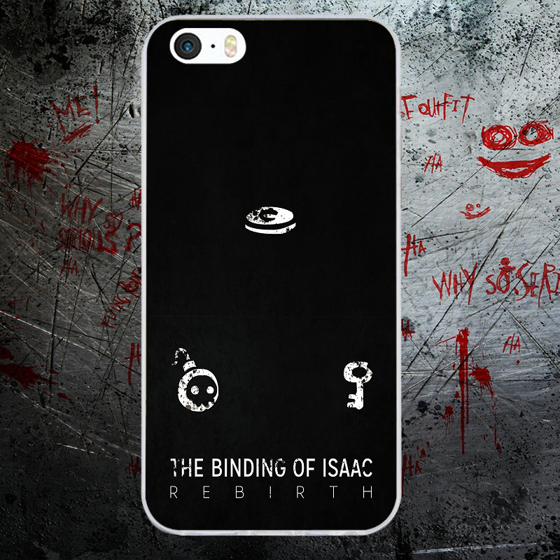 US $1 99 |For iphone 5 Case The Binding of Isaac Rebirth Soft Silicone  Mobile Phone Cases for iPhone X 8 7 Plus 6 6S Plus 5 5S SE 5C 4 4S-in
