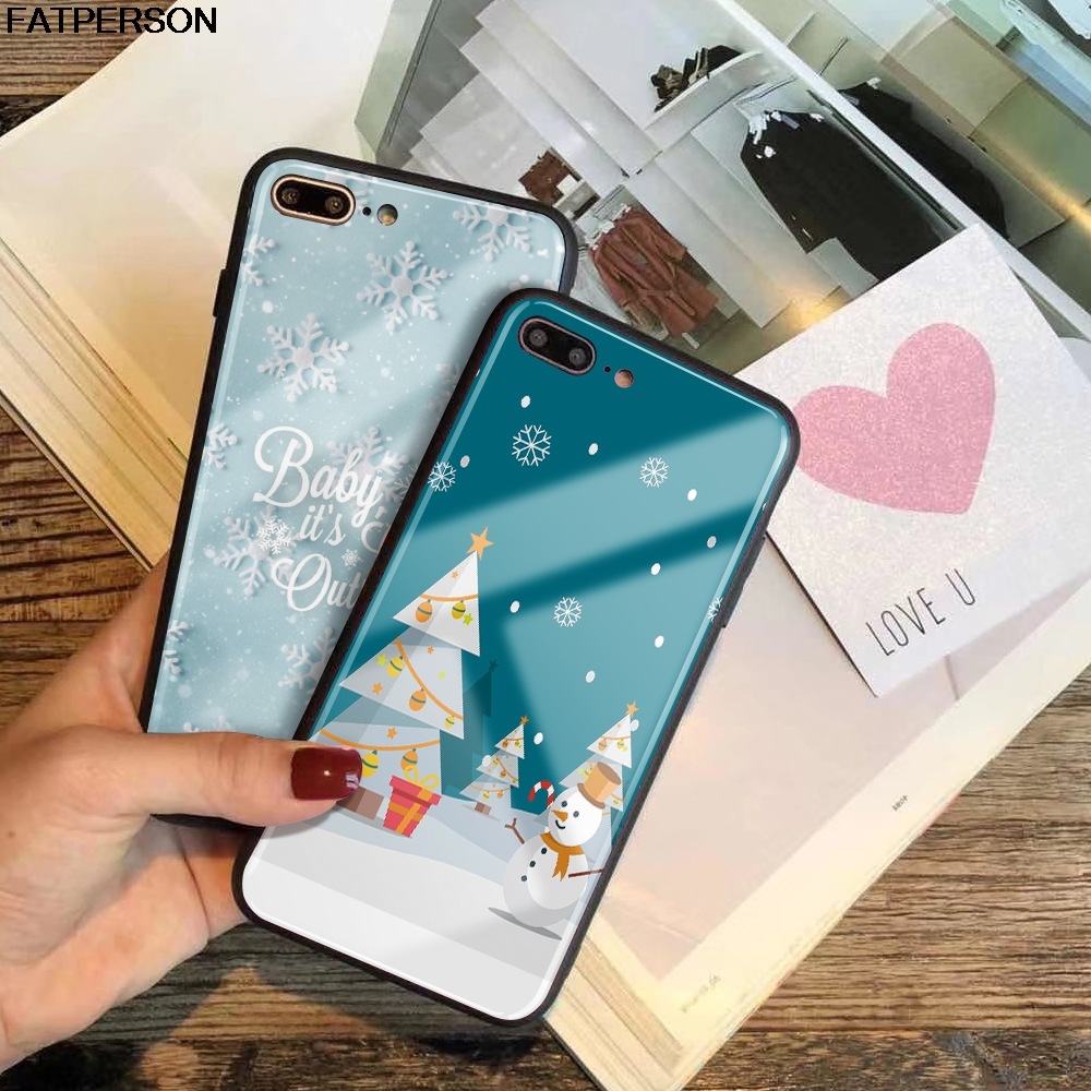 Top 99 Cheap Products Iphone 7 Case Christmas Tree In Bulbs Tpu 360 Full Cover 7g Plus Softshell Santa Claus Tempered Glass Phone For Xs Max Xr 8 X 6 6s Winter