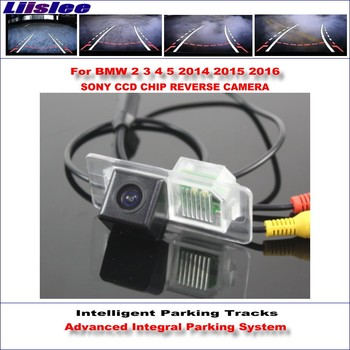 Liislee Backup Rear Reverse Camera For BMW 2 3 4 5 2014 2015 2016 / HD 860 Pixels 580 TV Lines Intelligent Parking Tracks