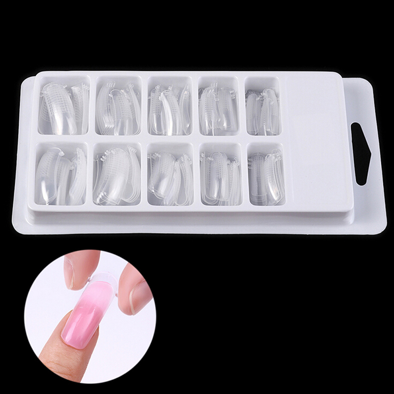 20 stücke/100 stücke Schnell Gebäude Mold Tipps Nagel Dual Formen Finger Verlängerung Nail art UV Builder Poly Gel werkzeug Heißer Verkauf