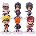 Estatuilla clásico 6 unids/set Naruto PVC Figuras de Acción Juguetes Conjunto Completo Model Collection Envío Gratis
