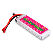 5200mAh 7.4V 2S 35C Lipo RC Battery for RC Airplane Helicopter Car Boat