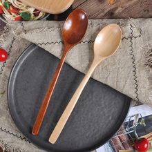 High Quality Natural Wood Spoon Fork Bamboo Kitchen Cooking Dining Soup Tea Honey Coffee Utensil Tools Soup-Teaspoon Tableware(China)