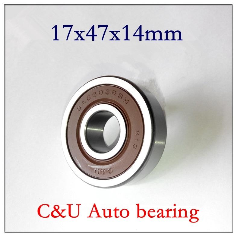 10pcs C U high speed low noise SA6303 2RSM Auto alternator bearing 17 47 14 mm