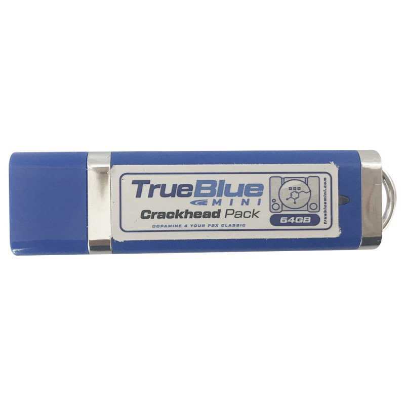 H64GB vrai bleu Mini Pack craquelé pour PlayStation classique jeux & accessoires 101 jeux V1