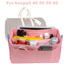 For keepall 45 50 55 60 Purse Organizer waterproof Oxford Cloth Handbag Bag In Tote w/Detachable zip Pocket