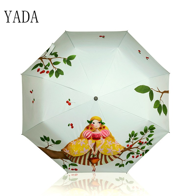 YADA Designer Cartoon Girl Umbrella Rain Women Brand uv High Quality Umbrella For Womens ...