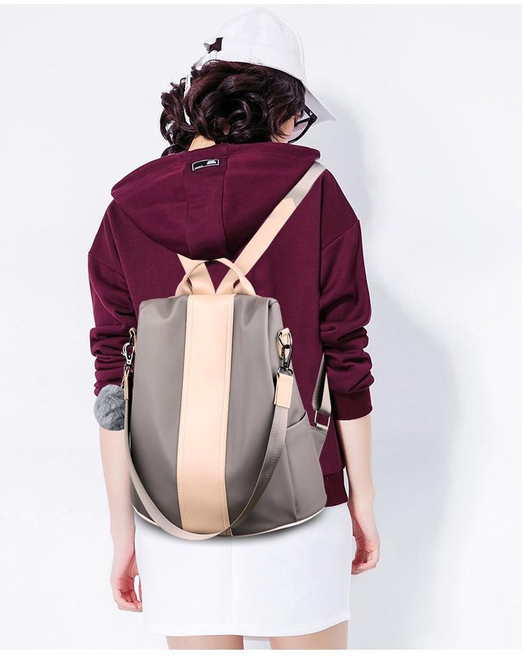 HTB1AhGEXsvrK1Rjy0Feq6ATmVXaS New Fashion Waterproof Casual Women Backpack Purse Anti-theft Rucksack Mochila Feminina School Shoulder Bag for Teenagers Girls