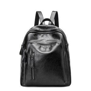 Новинка, женский рюкзак из натуральной кожи, известный бренд, школьные сумки, дизайнерская воловья кожа, высокое качество, женский рюкзак дл...