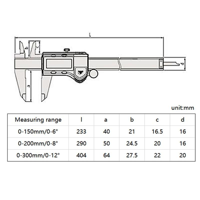Mitutoyo pied à coulisse numérique 500 196 30/197 30/173 MM/pouce micromètre électronique jauge 0 150/200/300mm/0.01mm outil de mesure - 3