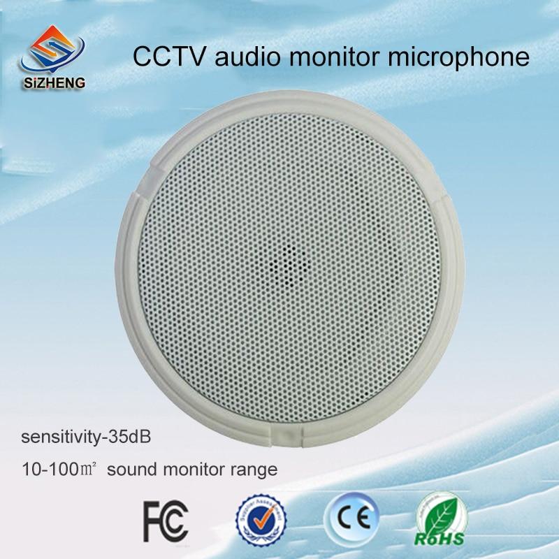 SIZHENG COTT-QD55 voz pegar dispositivo de Alta sensibilidade de áudio vigilância microfone CCTV-35dB para ambientes internos