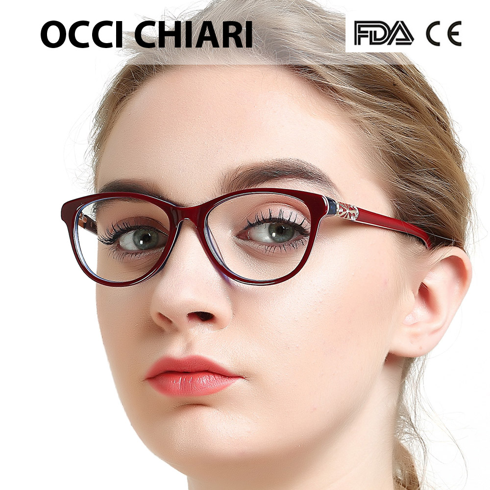 Image 2 - OCCI CHIARI High Quality Acetate Glasses Men Retro Vintage Prescription Glasses Women Optical Spectacle Frame Round OC7205Womens Eyewear Frames   -