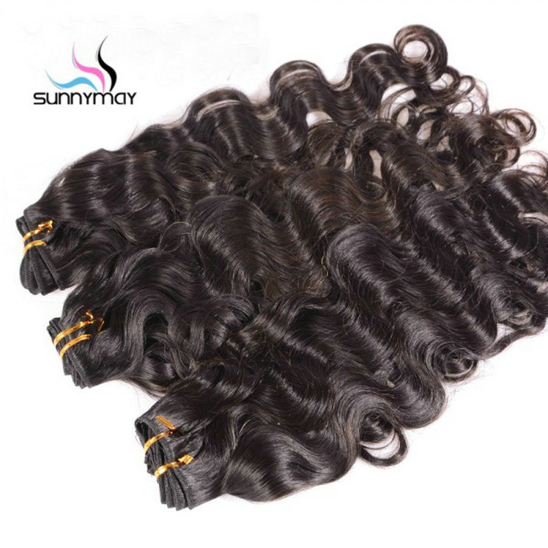 Sunnymay lâche vague profonde cheveux humains paquets 3 Pcs/Lot couleur naturelle cheveux humains armure brésilienne vierge cheveux - 2