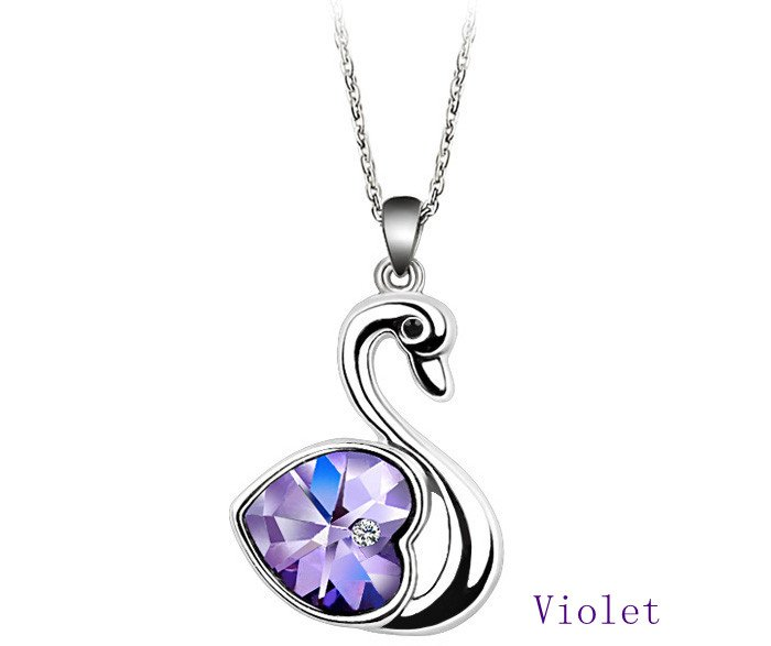 Free shipping wholesale noble swan design austria crystal pendant free shipping wholesale noble swan design austria crystal pendant necklacevarious colors fashion necklace in pendant necklaces from jewelry accessories mozeypictures Images