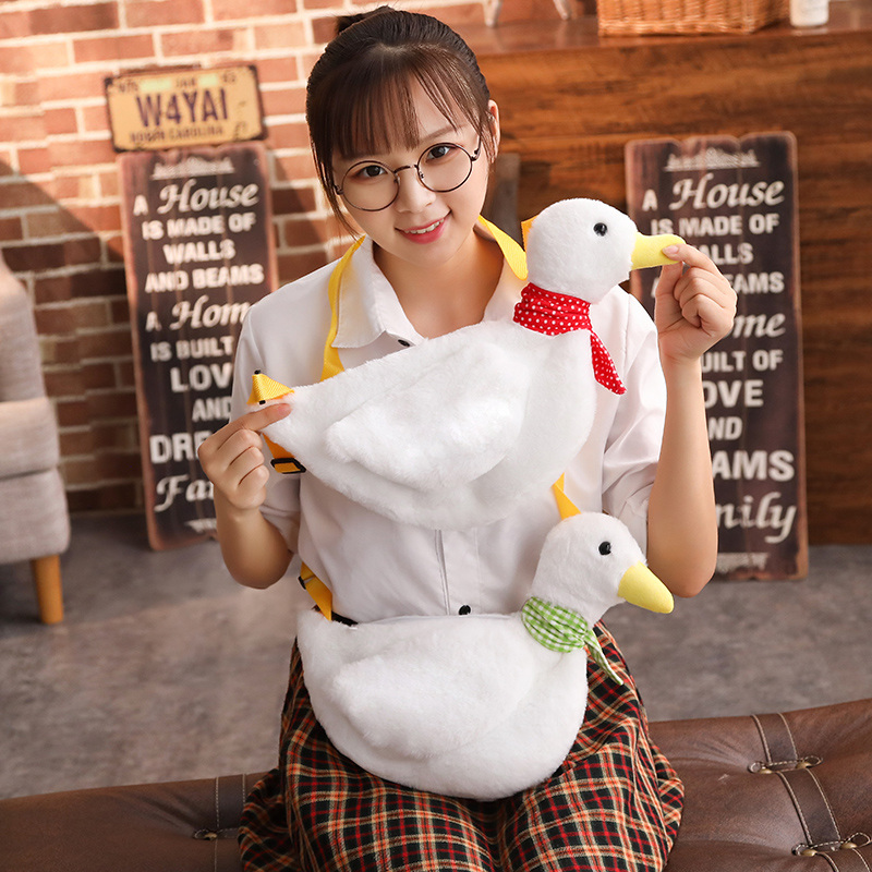 Plush Backpacks Dolls & Stuffed Toys Cute Ducklings Plush Toy Bag Fabric Soft And Comfortable Shape Unique For Children As A Birthday Present 40*32cm