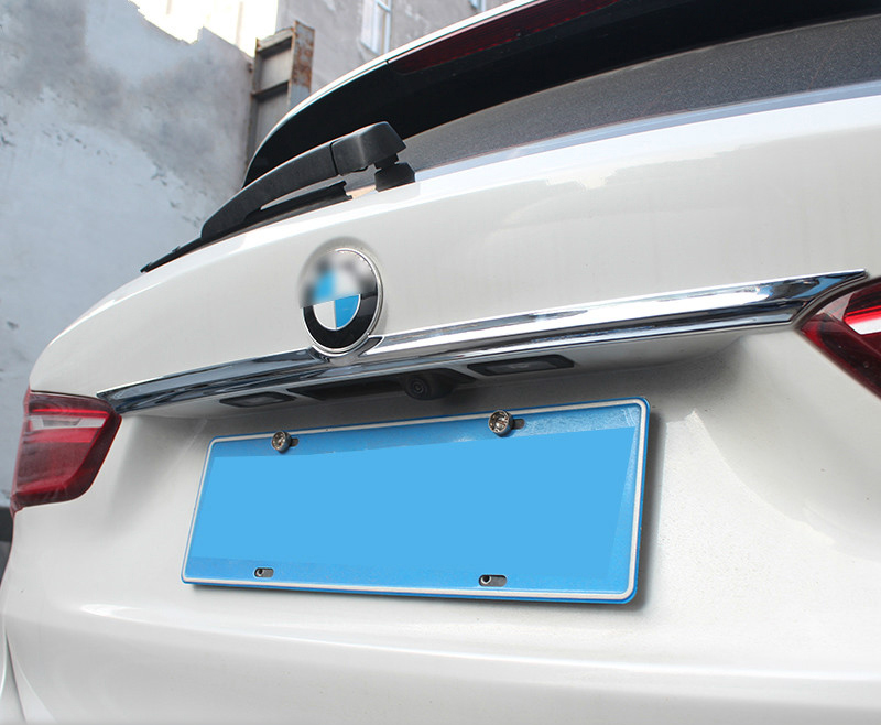2pcs ABS chrome rear trunk lid cover trim molding garnish accessories for 2016 2017 BMW X1 F48 car styling car stainless steel rear trunk lid molding cover decoration trims for bmw x5 f15 2014 2015 car styling accessiores