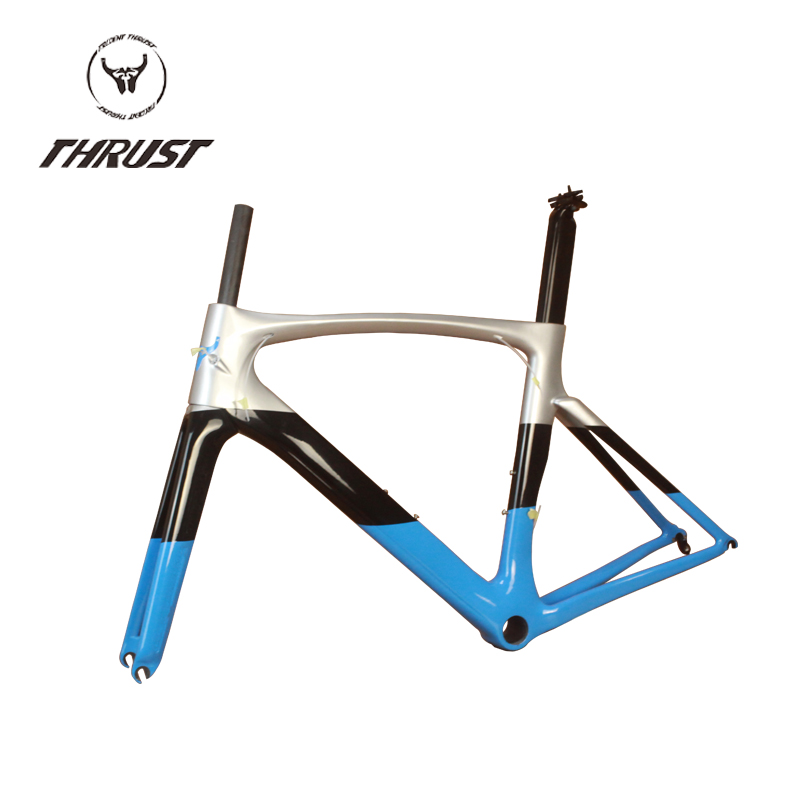 2016 Hot sale THRUST High Quality Carbon Road Frame China Carbon Frame road bike include fork headset seatpost clamp bb transfer