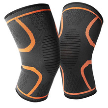 1 PCS Elastic Compress Knee Protect Breathable Basketball Football Sport Safety Kneepad Volleyball Knee Pads Training Support недорого