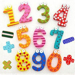 Party Gift Home Decor Multicolor  Wooden Fridge Magnet Educational Toy Symbol Alphabet Numbers  Cartoon Baby Kid 15 Pcs