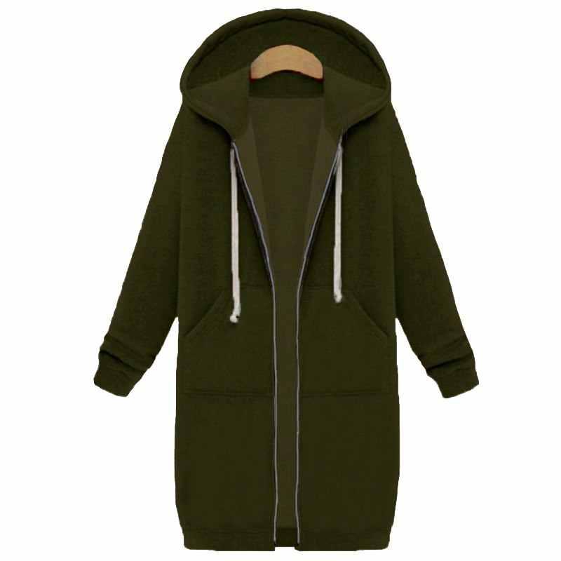 SHUJIN, повседневная Весенняя коллекция 2019, худи на молнии, длинное пальто, Толстовка для женщин, плюс размер, 5XL, свободная, более размера d, куртка, пальто, женские толстовки