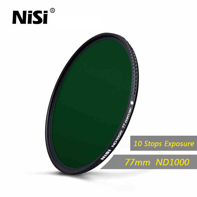 NISI 77mm NC ND1000 Filter Optical Glass 10-STOP Ultra Slim HD Multi-coated Neutral Density ND1000 Filter For Camera zomei pro 100mm nd1000 nd3 0 square filter 100x100mm neutral density 10 stop optical glass full gray mc hd nd filter for cokin z