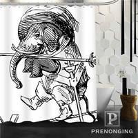 Elefante Tela de la Cortina de Ducha Impermeable Mildewproof baño Moderno Baño Cortina @ 36 Multi Size S-171216 * 10-36