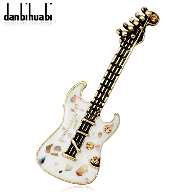 975f2d69341 Natural Shell Enamel Pins and Brooches for Women Men Party Wedding Bouquets  Hiphop Rock Guitar Pins Fashion Brooch Jewelry