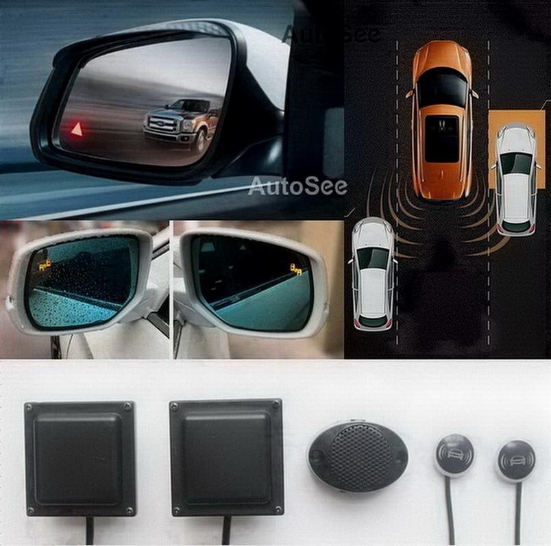 Car Mirror Radar Light Alarm BSD BSM Blind Spot Detect Monitoring 24GHZ Microwave Sensor Parallel Auxiliary Lane Change System