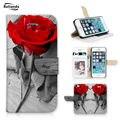 Роскошные Живопись Роза PU Кожаные Чехлы Для Apple Iphone 6 6G/iPhone 6 s Охватывает Держателей Карт Бумажник Флип Стиль
